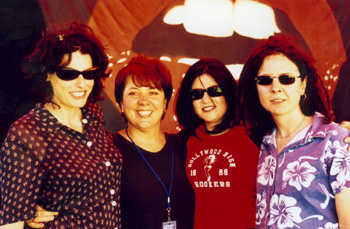 Deborah, Julie McCrossin, Cindy Ryan and Gen Maynard